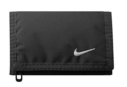 Nike Erwachsene Basic Wallet Geldbeutel, Black/White, One Size - Blau Damen Logo Crew T-shirt