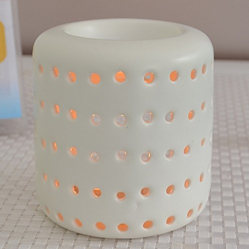 Aromalampe Duftlampe Coliseo aus Keramik weiß 9,5 cm