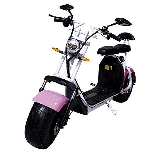 Moto eléctrica CityCoco Last Mille. 2000W/18.2aH (Doble Batería) Rosa/Blanco (Version XI)