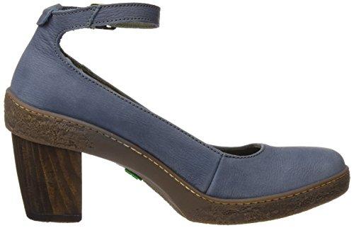 El Naturalista Nf76 Pleasant Lichen, Chaussures avec Bride à la Cheville Femme Bleu (Vaquero)