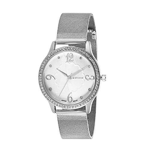 Giordano Analog White Dial Women's Watch-C2150-22