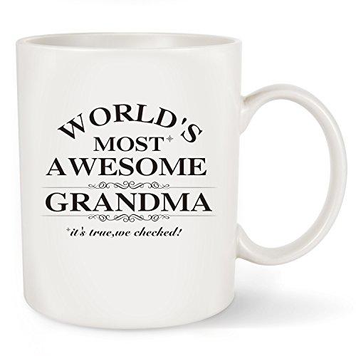 La Volupte Gifts Mother 's Day Gifts Best Grandma Kaffee Tasse-Awesome Oma der Welt-Best Geburtstag Presents Oder Weihnachten Geschenk Idee für Oma Nana Grammy Mimi Keramik Tee Tasse