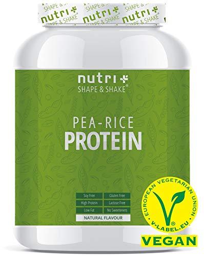 ERBSENPROTEIN + REISPROTEIN Neutral 1kg - Veganes Eiweißpulver ohne Soja, Zucker, Laktose und Süßstoff - Natural Protein unflavoured - 80,7% Eiweiß - Hergestellt in Deutschland