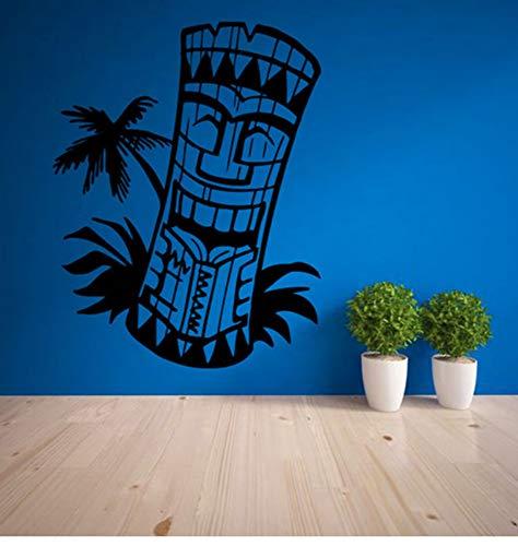 Dekor Wandtattoo Wohnzimmer Wohnkultur Wasserdichte Kunst Aufkleber Tapete Totem Insel Hawaii Mask Kultur 42 * 55 Cm ()
