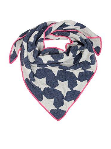 Cashmere Dreams Dreieckstuch mit Kaschmir - Hochwertiger Schal mit Sternen für Baby-s Jungen und Mädchen - XXL Hals-Tuch und Damen - Strick-Waren für Sommer und Winter Zwillingsherz - bla/pin