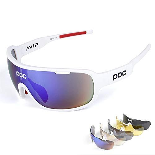 ZllSports Radfahren Poc Sonnenbrille mit Angeln polarisierten Brille für Unisex Kommt mit Outdoor-Sport-Windschutzbrille,2