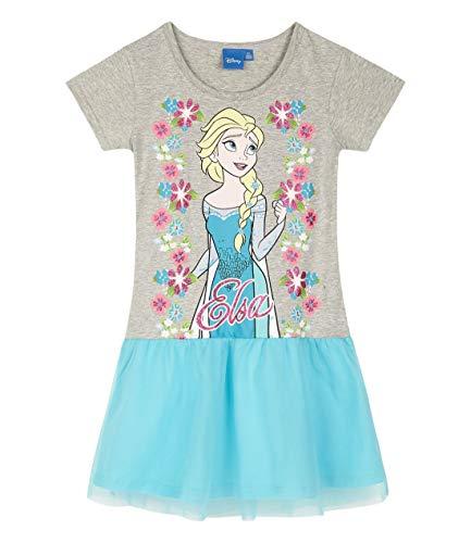 Disney Frozen - Il regno di ghiaccio Vestito (104/4 Anni, Grigio)