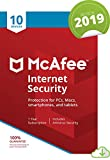 McAfee Internet Security 2019, 10 Device, 1 Year, PC/Mac/Android/Smartphones [Online Code]
