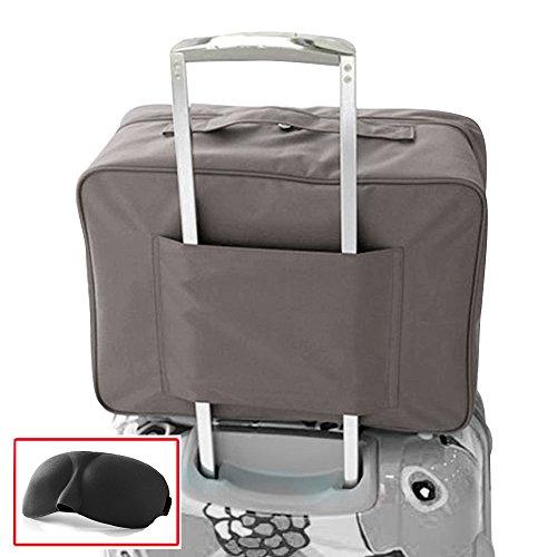 Pernottamento Duffle Bag bagagli di corsa Borsone con carrello manicotto di sacchetto di volo per Holiday Gym Clothes Valigia Organizzatore sacchetto dell'imballaggio con Eye Mask (Grigio)