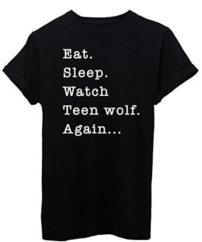 T-Shirt MANGIA DORMI GUARDA TEEN WOLF - SERIE TV -