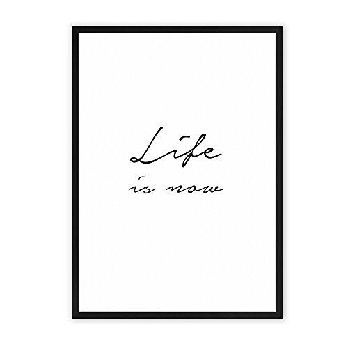 life-is-now-einzigartiger-kunstdruck-mit-spruch-auf-wunderbarem-hahnemuhle-papier-din-a4-optional-a3
