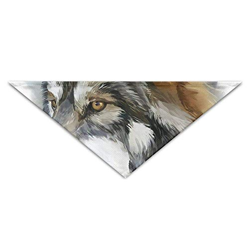 Gxdchfj Mysterious Tribal Wolf Head Triangle Pet Scarf Dog Bandana Pet Collars for Dog Cat - ()
