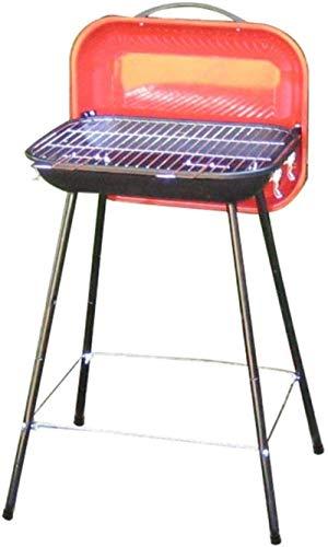 Raclette Grill, tragbarer Camping-Grill, faltbarer kompakter Holzkohlegrill aus Edelstahl für Wohnmobile, Rucksacktourismus, Hinterhöfe, Überleben