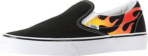Vans Classic Slip-On(flame) black / black / tr wht
