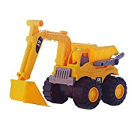 Amosfun Kids Excavator Truck Toys Beach Toy Car Simulation Engineering Vehicles for Kids Children Beach Home Playing