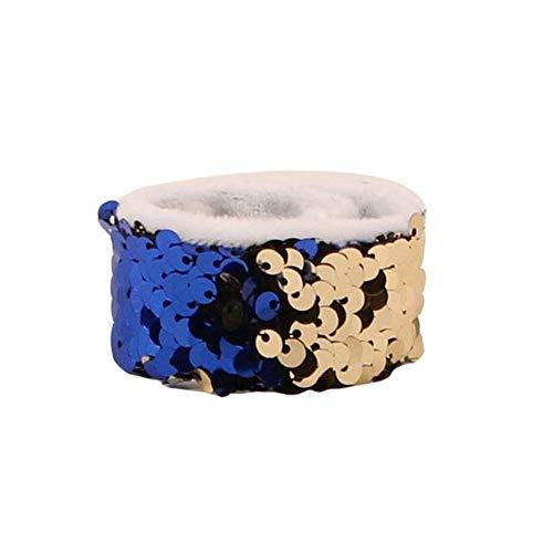Pat Kreis Kreis Armband klatschen Kreis Pat Hand Ring kreative Two Tone Pailletten Armband Meerjungfrau Pat Ring Armband geeignet für kleine Mädchen weibliche Handgelenk Dekoration