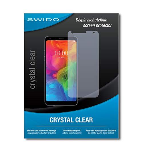SWIDO Bildschirmschutz für LG Q7 Alfa [4 Stück] Kristall-Klar, Hoher Härtegrad, Schutz vor Öl, Staub & Kratzer/Schutzfolie, Bildschirmschutzfolie, Panzerglas Folie