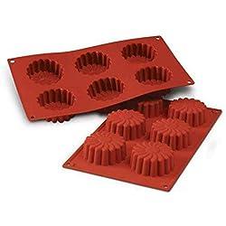 SF056 Molde de Silicona 6 cavidades con Forma de Margaritas, Color Terracota