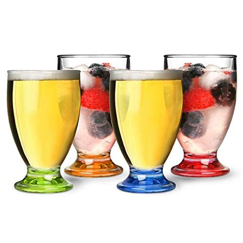 Flamefield Acryl Saft Gläser Party 170/170ml-4Stück |, bruchsicher, hervorragende Qualität Acryl Drinkware Acryl Drinkware