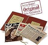 Original historische Zeitung vom Tag der Geburt mit/ohne Gravur