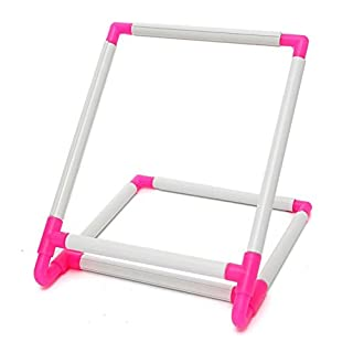 Practical Universal Embroidery Clip Frame, Tambour Embroidery Frame Cross Stitch Hoop Stand,Hoop Stand Support Craft Tool for Embroidery, Quilting,Needlepoint,Silk-Painting - 30x25x20cm