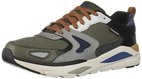 Skechers verrado brogen, scarpe da ginnastica uomo, grigio (grey olive gyol), 44 eu