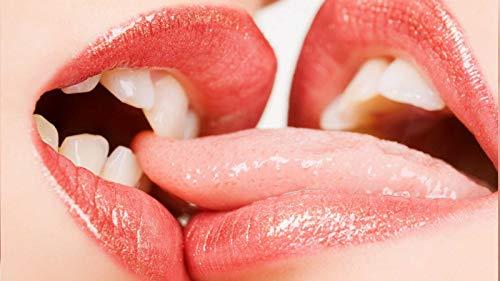 TWYYDP Klassisches Puzzle 1500 Teile Rote Lippen Küssen Kind Oder Einen Freund -