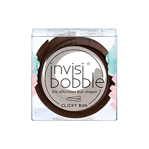 invisibobble CLICKY BUN Pretzel Brown, Haarknoten ohne Dutt-Donut