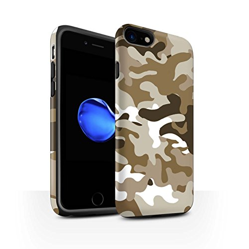 STUFF4 Matte Harten Stoßfest Hülle / Case für Apple iPhone 6S / Weiß 1 Muster / Armee/Tarnung Kollektion Braun 1