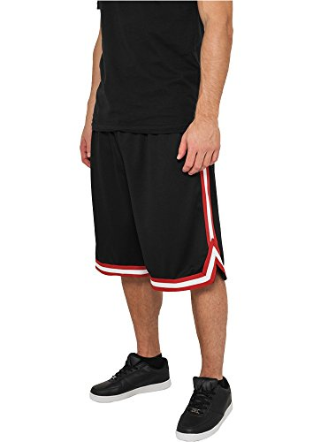 Preisvergleich Produktbild Urban Classics Stripes Mesh Shorts TB243, Größe:XXL;Farbe:black/red/white