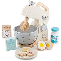 New Classic Toys - 10707 - Jeu D'imitation - Cuisine - Ensemble - Robot Mixer - Blanc