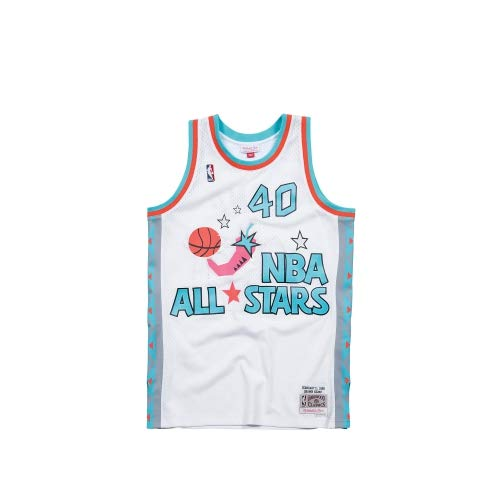 Mitchell & Ness All Star Game - Shawn Kemp Swingman Jersey Trikot Weiss (L) - All-star-jersey