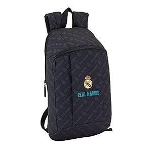 41A%2BxSOzbqL. SS300  - Safta Mini Mochila Day Pack Estamp Real Madrid Black Oficial Uso Diario 220x100x390mm