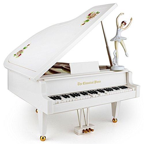 box kreative piano music box modell mädchen beste geschenk schicken.,weiße (Pop-halloween-songs)