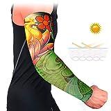 Handaxian 4pcsBandage Manicotto del Tatuaggio della Protezione Solare UV Manica Polsini Antiscivolo Manica Traspirante Manica Elastica Sportiva 4pcs-14
