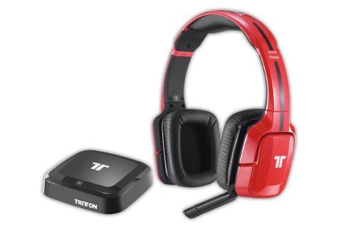 Preisvergleich Produktbild Tritton Kunai Wireless Stereo Headset,  rot - [PS4,  PS3,  Xbox 360,  Wii U]