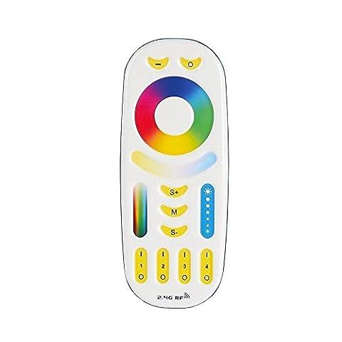 LIGHTEU®, RGB + CCT (RGBWW) Télécommande pour module de contrôle sans fil WiFi Contrôleur LED Télécommande et RGBWW Wi-Fi ampoules