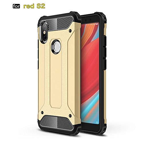 tinyue® Armadura Series TPU + PC Doble protección Funda Anti caída a Prueba de Golpes Duradero Phone Case para Xiaomi Redmi S2 Smartphone Dorado