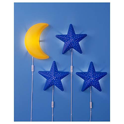IKEA smila stjärna lámpara de Estrella Azul De Pared, Niño