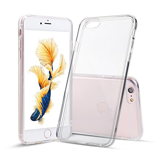 M.G.R.J Soft TPU Case Crystal Clear Transparent Slim Anti Slip Case Back Protector Cover for [ Apple iPhone 6 Plus / 6S Plus ]  available at amazon for Rs.129