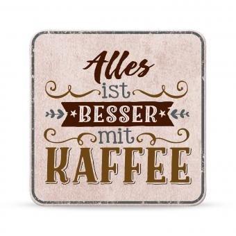 Sheepworld, My Beautytree - 44618 - Untersetzer Nr. B20, Alles ist besser mit Kaffee, Kork, 9,5cm x...