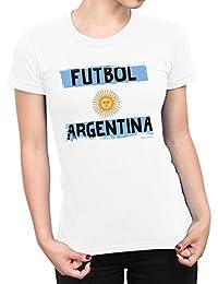 Buzz Shirts Mujeres Camiseta Futbol Argentina Copa del Mundo 2018 Fútbol Patriotic Copa America