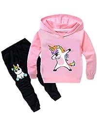 Chándal Niño Sudaderas con Capucha 3D Impresión Unisex Niña Chaqueta Sudaderas y Pantalones de Deporte Suéter Fresco Dibujos Unicornio de Fans Streetwear Jerseys