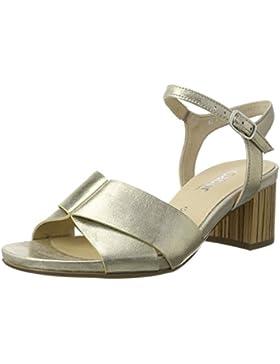 Gabor Damen Comfort Offene Sandalen mit Keilabsatz