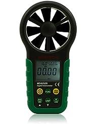 Mastech MS6252B Digital Anemometer Windmesser Temperatur Feuchtigkeit Messer Messgerät USB-Schnittstelle mit Temp & RH Sensor