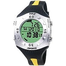Pyle PSWDV60Y - Reloj digital deportivo, color negro/ amarillo