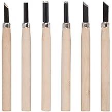 Kreator Schnitzmesser Set 6 teilig Holzmeissel Beitel Holzschnitzerei Holzgriff