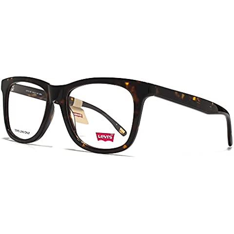 Levis Grandi occhiali quadrati in guscio di tartaruga LS121/02 BRN
