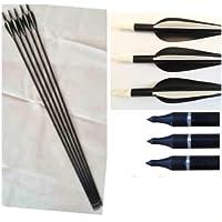 Confezione da 20 Tiro con l'arco, frecce Fibra di vetro campo e Bersaglio broadhead compatibile - 20 Frecce