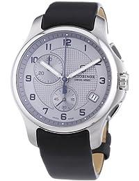 Victorinox Swiss Army 241553.2 - Reloj cronógrafo de cuarzo para hombre con correa de piel, color negro